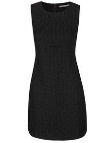 Čierne štrukturované šaty Darling Jaime