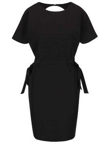 Černé šaty s mašlemi po stranách Miss Selfridge