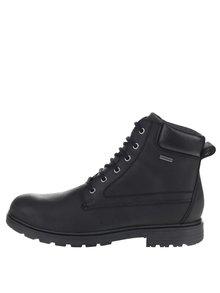 Černé pánské kožené kotníkové boty Geox Akim 77febe9951