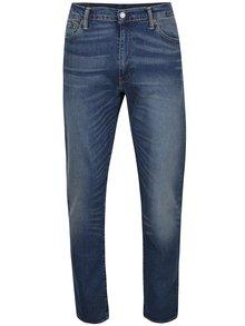 Modré pánské strečové džíny s vyšisovaným efektem Levi's® 508™