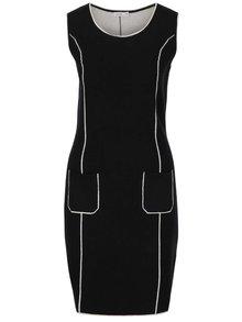 Čierne svetrové šaty bez rukávov Lavand