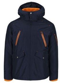 Tmavě modrá bunda s oranžovými detaily Jack & Jones Haaf