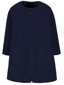 Tmavomodrý voľnejší kabát Lavand