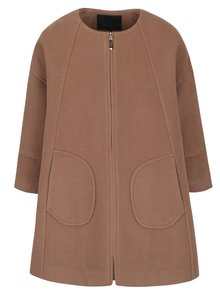Světle hnědý volnější kabát Lavand