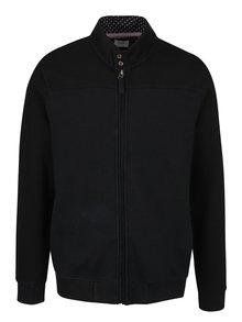 Černá mikina na zip s prošívaným vzorem Burton Menswear London