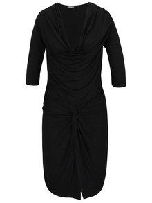 Rochie neagră cu decolteu fronsat ZOOT