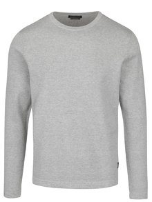 Pulover gri deschis melanj Jack & Jones Basic din bumbac