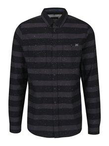 Šedo-černá pruhovaná košile Blend
