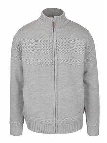 Jachetă gri deschis cu model discret și fermoar Blend