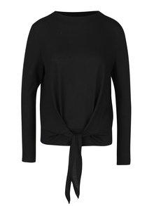Čierne tričko s uzlom a dlhým rukávom ONLY Rebel