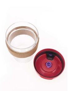 Dizajnový cestovný sklenený hrnček KeepCup Brew Sumac Cork Medium