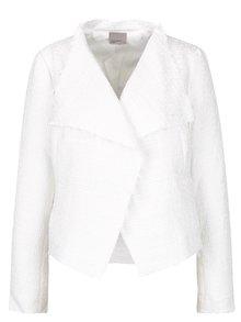 Jachetă crem cu model reliefat VERO MODA Jolene
