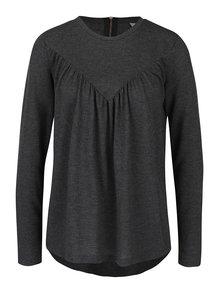 Bluză gri închis asimetrică VERO MODA Penny
