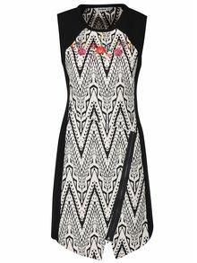 Čierno-biele vzorované šaty Desigual Oregon