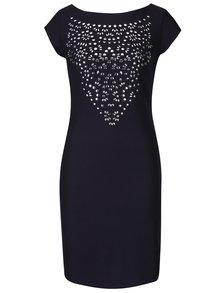 Modré šaty s aplikací v dekoltu Desigual Rosa