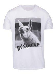 Bílé pánské triko ZOOT Originál Lama pátek