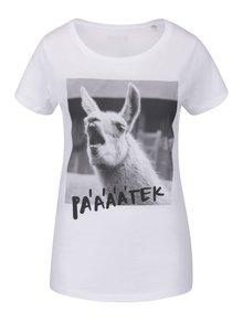 Bílé dámské tričko ZOOT Originál Lama pátek
