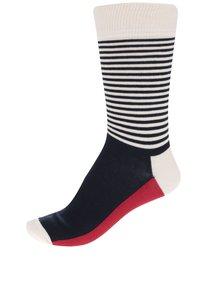 Súprava štyroch párov červeno-modro-krémových ponožiek Happy Socks Dot Gift Box