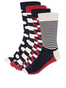 Set 4 perechi sosete Happy Socks in cutie de cadou