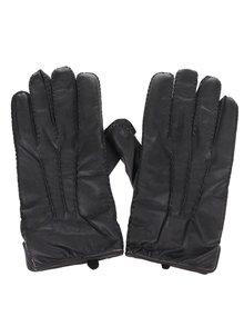 Čierne kožené rukavice Dice