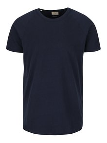 Tricou bleumarin Selected Homme Screamy
