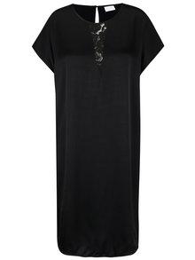 Čierne šaty s čipkou v dekolte VILA Klika