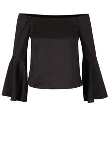 Bluză neagră Miss Selfridge cu mâneci evazate