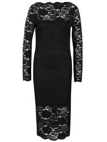 Rochie neagră din dantelă VILA Grit