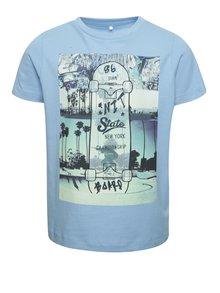 Tricou albastru name it Dim cu print pentru băieți