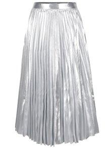 Fustă midi plisată argintie Closet