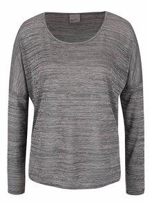 Sivé melírované tričko VERO MODA Sebisanne