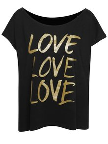 Čierne dámske oversize tričko s potlačou ZOOT Originál Love love love