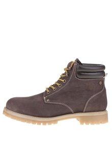 Tmavě hnědé kotníkové boty Jack & Jones Stoke