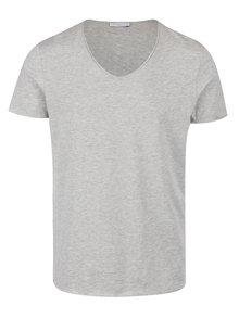 Sivé tričko s krátkym rukávom Selected Homme Merce