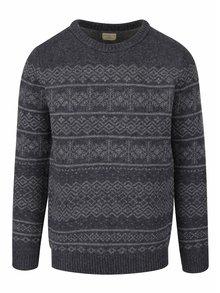Sivý vzorovaný vlnený sveter Selected Homme Xmas