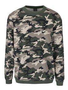 Bluză verde & bej Jack & Jones Vince din bumbac cu model camuflaj