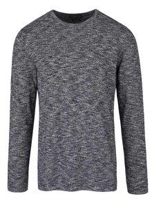 Tmavomodrý melírovaný sveter Jack & Jones Slub