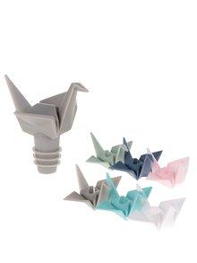 Uzáver na fľašu a súprava šiestich farebných rozlišovačov Umbra Origami