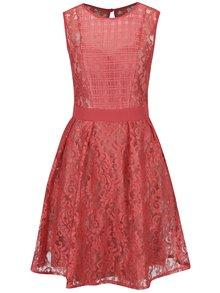 Rochie roșie din dantelă Little Mistress cu detalii translucide