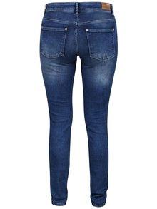 Jeanși skinny bleumarin cu aspect uzat ONLY Carmen