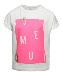 Tricou crem cu imprimeu name it Boxy pentru fete