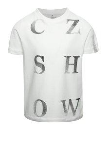 Krémové chlapčenské tričko s potlačou name it Dopal