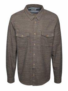 Cămașă maro Burton Menswear London din bumbac cu model în dungi