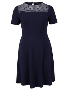 Tmavě modré šaty s krajkovým sedlem Dorothy Perkins Curve