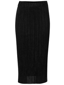 Černá plisovaná midi sukně Dorothy Perkins