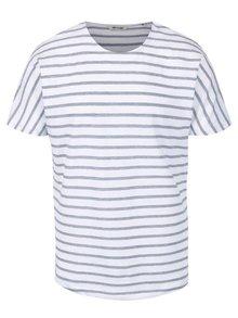 Tricou albastru & alb ONLY & SONS Nanak din bumbac cu model în dungi