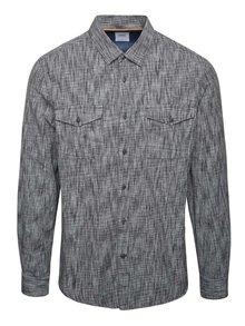 Cămașă gri & negru Burton Menswear London din bumbac cu model