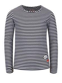 Bluză negru & alb 5.10.15. din bumbac cu model în dungi pentru fete