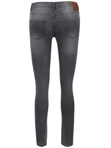 Světle šedé dámské skinny džíny s vyšisovaným efektem Cars Tyra