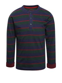 Bluză verde & albastru 5.10.15. din bumbac cu model în dungi
